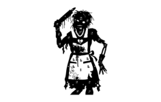 zombie-target-wife Free Dxf File for CNC