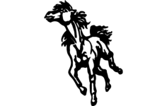 horse running Free Dxf File for CNC