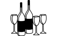 wine rack signs Free Dxf File for CNC