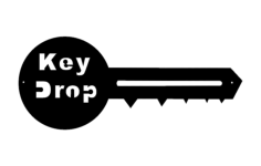 key drop Free Dxf File for CNC