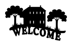 welcome sign cabin Free Dxf File for CNC