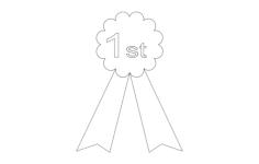 prize ribbon Free Dxf File for CNC