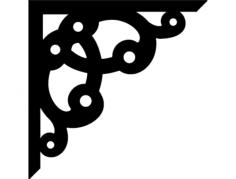 corner design kron 0006 Free Dxf File for CNC