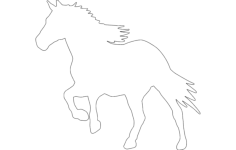 running horse silhouette Free Dxf File for CNC