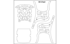 3d chair Free Dxf File for CNC