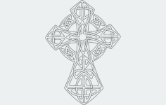 celticcross Free Dxf File for CNC