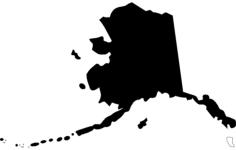 us state map alaska ak Free Dxf File for CNC