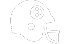 football helmet silhouette Free Dxf File for CNC