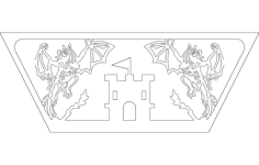 dragon side Free Dxf File for CNC