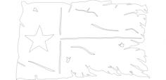 tatteredtexasflag Free Dxf File for CNC