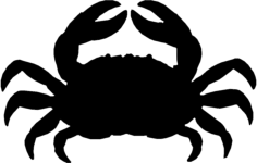crab Free Dxf File for CNC