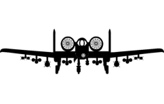 a10 aircraft front Free Dxf File for CNC