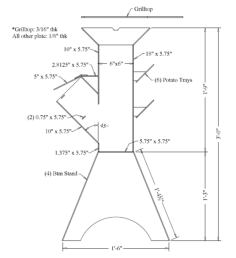 rocket stove Free Dxf File for CNC