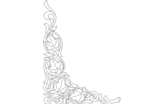 corner oak scroll Free Dxf File for CNC