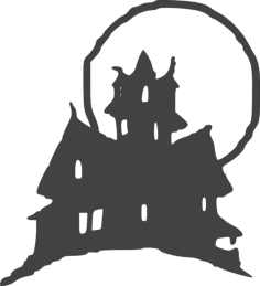 halloween clipart castle Free Dxf File for CNC
