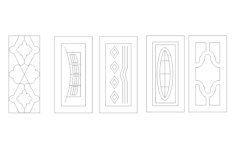 doors vectors Free Dxf File for CNC