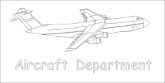 aircraft department Free Dxf File for CNC