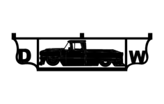 truck Free Dxf File for CNC