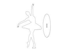 ballet dancer Free Dxf File for CNC