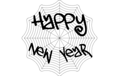 happy new year web Free Dxf File for CNC