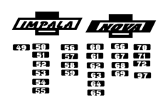chevy logo impala and nova Free Dxf File for CNC
