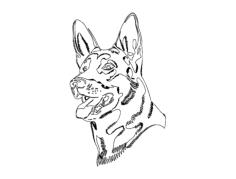 german shepard dog Free Dxf File for CNC