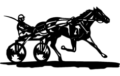 horse and jockey Free Dxf File for CNC