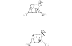 whitetail wall mount paper towel holder Free Dxf File for CNC
