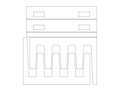 sheet rack Free Dxf File for CNC