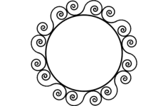 ironwork round frame Free Dxf File for CNC