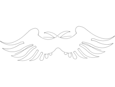 wings 18 Free Dxf File for CNC