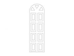 mdf door design 22 Free Dxf File for CNC