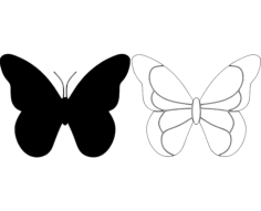 butterfly 28 Free Dxf File for CNC