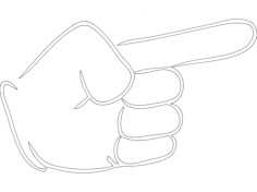 hand with pointing finger Free Dxf File for CNC