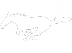fast pony Free Dxf File for CNC