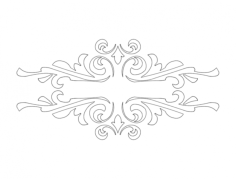 ornament 08 Free Dxf File for CNC