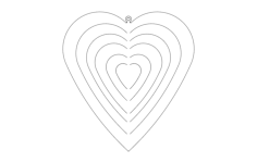 heart spinner Free Dxf File for CNC