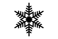 snowflake design Free Dxf File for CNC