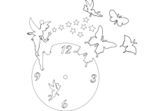 clock butterfly fairy Free Dxf File for CNC