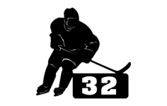 hockey player with number Free Dxf File for CNC