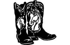 horse boots Free Dxf File for CNC
