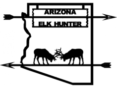 arizona elk hunter Free Dxf File for CNC