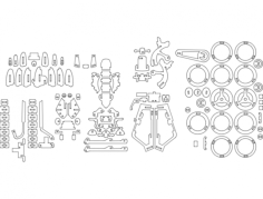 harley r 6 mm Free Dxf File for CNC