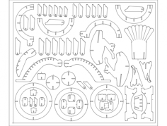 chyba dinozaur Free Dxf File for CNC