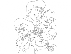 scooby doo 2 Free Dxf File for CNC