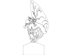 obelix Free Dxf File for CNC