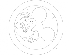 mickey 1 Free Dxf File for CNC