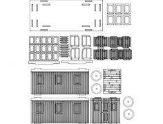 cabuz 3d puzzle Free Dxf File for CNC