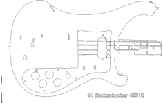 rickenbacker series 400 body Free Dxf File for CNC