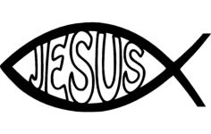 jesus fish Free Dxf File for CNC